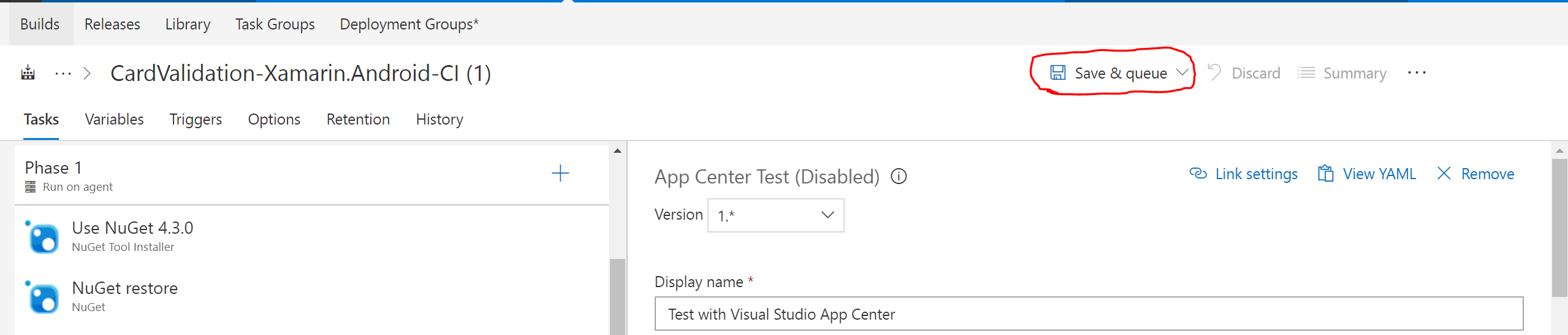 How to run Continuous integration for Xamarin Forms Android with UI