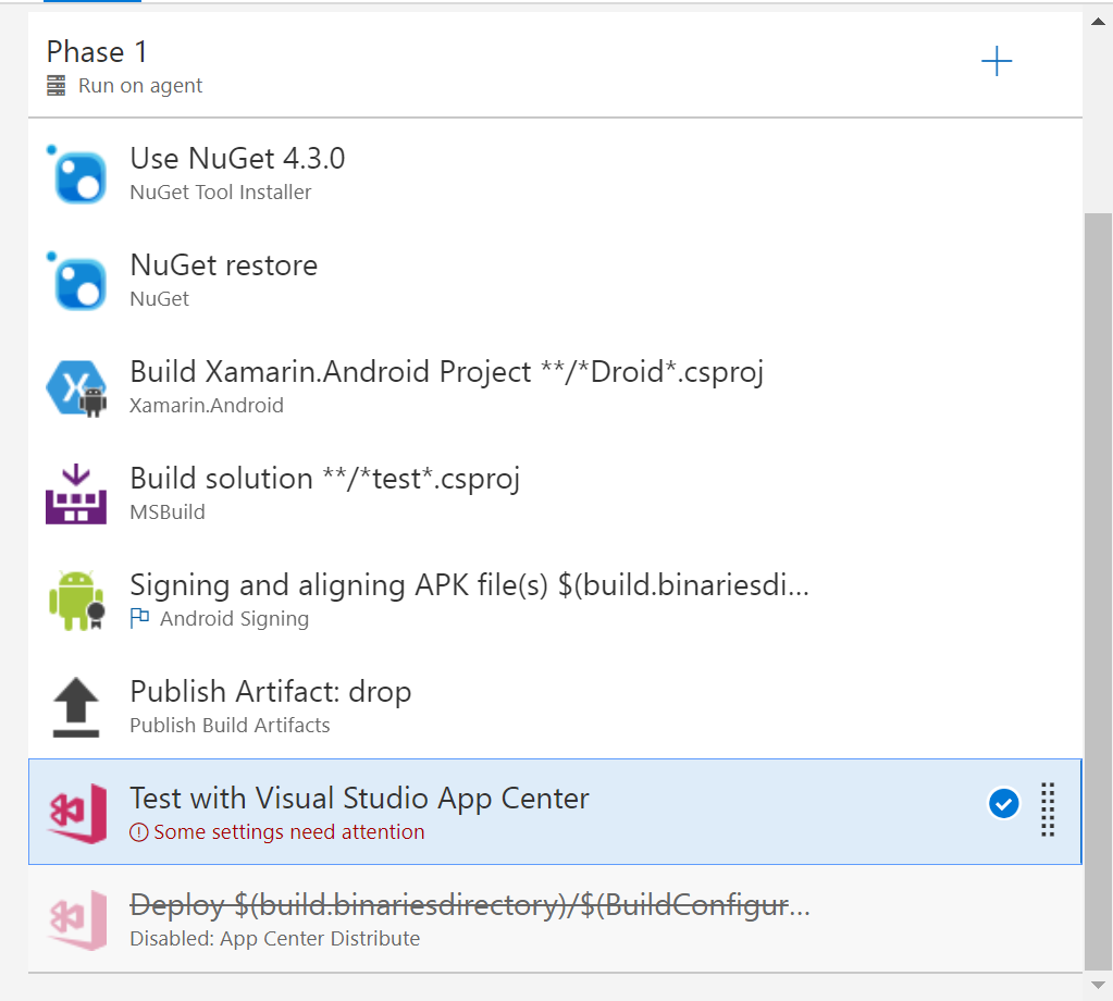 How to run Continuous integration for Xamarin Forms Android